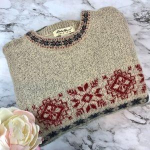 Vintage Eddie Bauer Wool Ski Sweater Fairisle